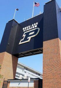 Purdue Scoreboard backside after